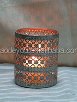 round standing church candle holders