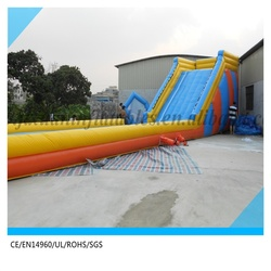 inflatable rolling zorb ball track slide /inflatable zorb ball giant slide