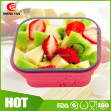 Silicone Rubbermaid Self Collapsible Kitchen Food Grade Liquid Storage Container With Screw Lid To Keep Food Hot