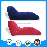 S-shaped single padded pvc inflatable chair and sofa