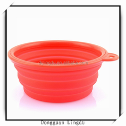 Outdoor travel pet bowl and collapsible pet bowl