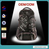 New launched nylon 45l bag backpack for travel/camping backpack manufacturers china