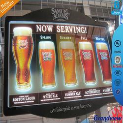 2015 customized outdoor acrylic led light box crystal advertising display