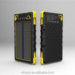 Portable power bank solar panel 8000mah solar power bank,waterproof power bank for mobile phone