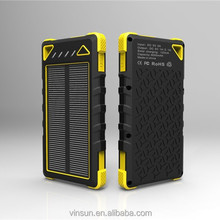 Portable power bank solar panel 8000mah solar power bank,waterproof power bank for mobile phone