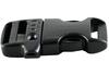 black plastic side release whistle buckles for paracord bracelet