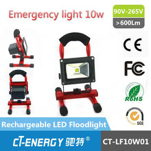 10W Cordless Rechargeable LED Flood Spot Work Light Camp Lamp Weather Resistant