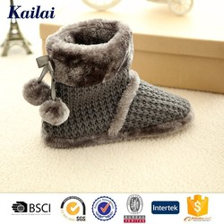 2015 quite for sale and luxury crochet plush winter boot