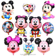 Mylar foil mickey minnie balloon 2012 new models fill with helium