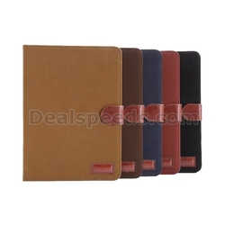Black for iPad mini 1/2/3 Cloth Surface Smart Leather Wallet Stand Cover Case
