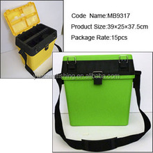39*25*37.5cm PP material plastic fishing tackle box