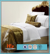 Popular Cotton Custom Embroidery Design Hotel Bedding Set