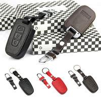 Customized Leather car key case Fob cover For Volkswagen VW new Magotan CC vw magotan car key bag