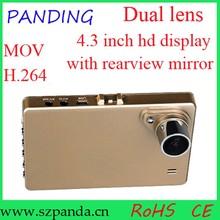 2015 Newest products 4.3 inch dual camera dvr, dual person car, dual camera video car dash cam