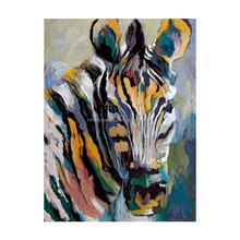 Wholesale Popular Colorful Zebra Wall Art of Animal Oil Painting
