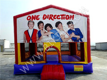 Cheap inflatable bouncer, inflatable jumping castle with art panel B2209