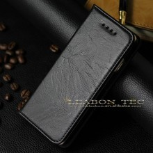 LEABON real leather wallet phone case, genuine leather cell phone case for iphone 6, luxury mobile phone case cover for iphone 6