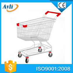 American style grocery metal shopping trolley