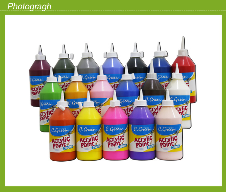 Eco friendly plastic bottle acrylic colour paint acrylic for Eco friendly colours for painting