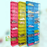 Le'sort Storage Wholesale hanging shoes storage rack, over the door hanging shoe organizer
