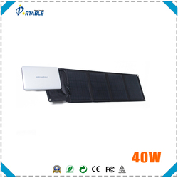 portable folding waterproof 40w solar panel with CE CEC TUV ISO certificate