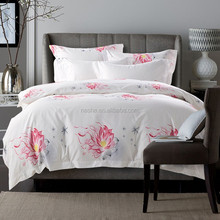 2015 Hotel bedding sets,hotel bed linen,hotel textile products/ Flower hotel bedding sets