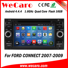 Wecaro WC-FU7016 Android 4.4.4 gps navigation 2 din for ford connect car gps navigation system 2007 2008 2009 BT gps 3g TV