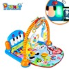 HX9105 hot item baby kick and play gym mat toys ,baby educational toys