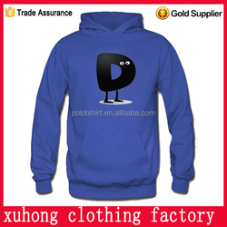 china customized casual designer hoody 100% cotton with pattern