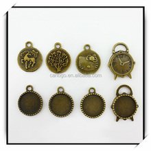 Charm hot sale photo printing religious antique pendant with various color