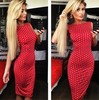 C64817A trade in Europe and America sleeveless knit Polka Dot Dress in tight dress for women