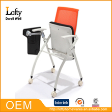 Comfortable small folding chair with armrest