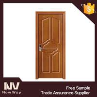 Indian style interior single wood doors designs