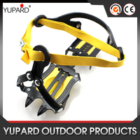 Strap Type Crampons Ski Belt High Altitude Hiking Slip-resistant 10 Crampon Ice Gripper for Winter Outdoor Skiing