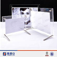 High transparent factory oem pop quality Beautiful Acrylic Photo Frame with Magnet,Clear acrylic picture frame