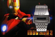 Alibaba Iron LED Digital Sport Watches Men Full Steel Led Watch, Men Military Watches Metal LED Bracelet