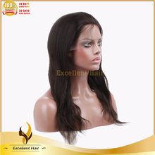 Alibaba Top Quality natural Straight Short Hair full lace Silk Top Wig