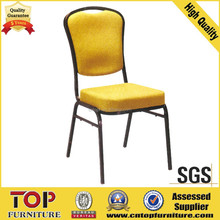 gold color China restaurant dining chair