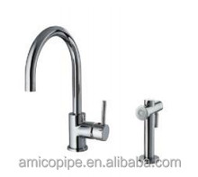 Brass Single Lever/Handle Sink Mixer/Kitchen Faucet Tap with Side Spray