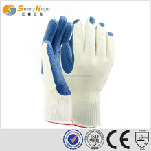 sunnyhope blue very safety liner T/C Industrial Latex Rubber Hand Gloves