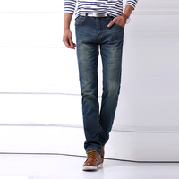 New Brand Fashion Leisure True Jeans Men Mid Waist Straight Denim Long Trousers Business Designer Jeans Casual Jeans Pant