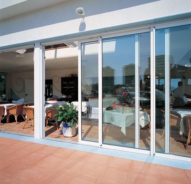 Modern House Front Door Design Double Tempered Glass Sliding Door
