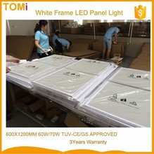 Hot sale sivery Frame 600x1200 flat led panel LIFUD Power Driver CE,ROSH,GS,SAA Approved ultra thin led panel light
