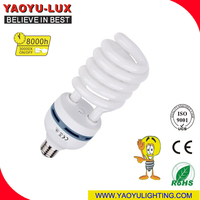 65W 45W E27 6400K High Power Half Spiral Save Energy Light/ CFL Bulb