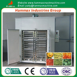The stainless steel material hot air fruit and vegetable drying machine
