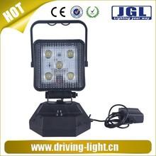 JGL 10W Rechargeable LED Flood Light, Portable Flash Light Magnetic Led Light Working Time 4 Hours