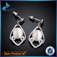 fashionable latest design of pearl earrings
