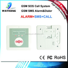Newest wireless alarm system,SOS Call Alarm GSM Medical alarm home system IOS Android APP free K2