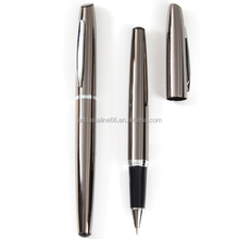 factory directly sale metal promotional gift roller ball pen engrave logo printing logo gun gray barrel color