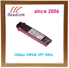 10Gbps DWDM XFP 40Km fiber optic module with 1563.86nm wavelength